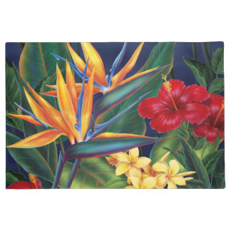 Tropical Paradise Hawaiian Floral Doormat