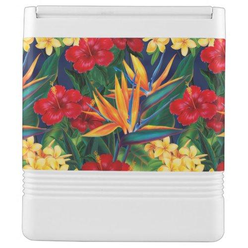 Tropical Paradise Hawaiian Floral Drink Cooler