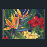 "Tropical Paradise Hawaiian Floral iPad Mini Case<br><div class=""desc"">This original digital painting by renowned illustrator Jeff Fillbach is an explosion of the colors of some of nature&#39;s most beautiful flowers. Featuring an array of birds of paradise, plumeria and hibiscus, the items in our Tropical Paradise collection will lift your spirits, and fuel your dreams. Bring paradise to your...</div>"