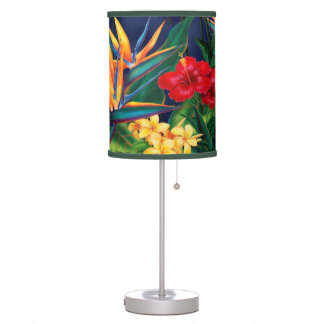 Tropical Paradise Hawaiian Floral Lamps