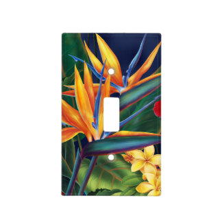 Tropical Paradise Hawaiian Floral Light Switch Light Switch Cover