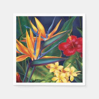 Tropical Paradise Hawaiian Floral Napkin