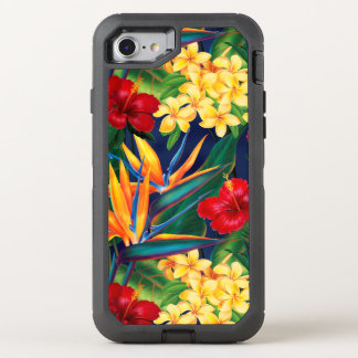 Tropical Paradise Hawaiian Floral OtterBox Defender iPhone 7 Case