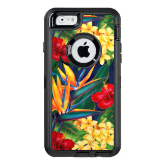 Tropical Paradise Hawaiian Floral OtterBox Defender iPhone Case