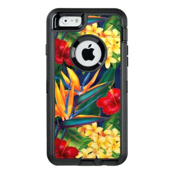Tropical Paradise Hawaiian Floral Otterbox Defender Iphone Case by DriveIndustries at Zazzle