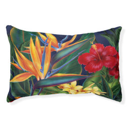 Tropical Paradise Hawaiian Floral Pet Bed