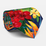 Tropical Paradise Hawaiian Floral Two-sided Tie at Zazzle
