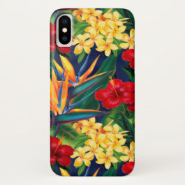 Tropical Paradise Hawaiian Floral Vertical iPhone X Case