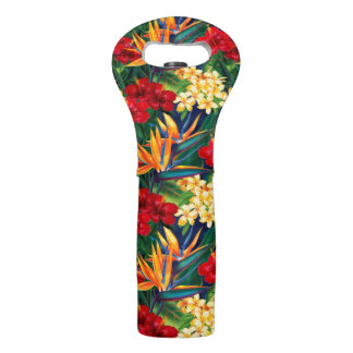 Tropical Paradise Hawaiian Floral Wine Bag