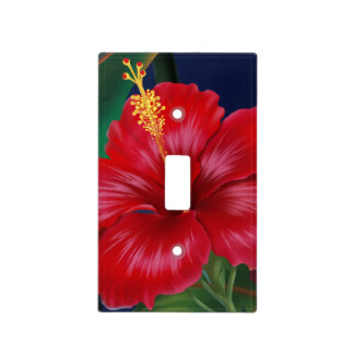 Tropical Paradise Hawaiian Hibiscus Light Switch