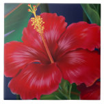 """Tropical Paradise Hawaiian Hibiscus Tiles &amp; Trivet<br><div class=""""desc"""">This original digital painting by renowned illustrator Jeff Fillbach is an explosion of the colors of some of nature&#39;s most beautiful flowers. Featuring an array of birds of paradise, plumeria and hibiscus, the items in our Tropical Paradise collection will lift your spirits, and fuel your dreams. Bring paradise to your...</div>"""