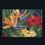 "Tropical Paradise Hawaiian iPad Air Folio Cover For iPad Air<br><div class=""desc"">This original digital painting by renowned illustrator Jeff Fillbach is an explosion of the colors of some of nature&#39;s most beautiful flowers. Featuring an array of birds of paradise, plumeria and hibiscus, the items in our Tropical Paradise collection will lift your spirits, and fuel your dreams. Bring paradise to your...</div>"