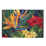 Tropical Paradise Hawaiian iPad Air Folio Cover For iPad Air<br><div class='desc'>This original digital painting by renowned illustrator Jeff Fillbach is an explosion of the colors of some of nature&#39;s most beautiful flowers. Featuring an array of birds of paradise, plumeria and hibiscus, the items in our Tropical Paradise collection will lift your spirits, and fuel your dreams. Bring paradise to your...</div>