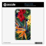 Tropical Paradise Hawaiian iPhone 4/4S Skin Skin For iPhone 4