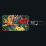 """Tropical Paradise Hawaiian Luggage Tags<br><div class=""""desc"""">This original digital painting by renowned illustrator Jeff Fillbach is an explosion of the colors of some of nature&#39;s most beautiful flowers. Featuring an array of birds of paradise, plumeria and hibiscus, the items in our Tropical Paradise collection will lift your spirits, and fuel your dreams. Bring paradise to your...</div>"""