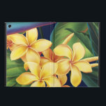 "Tropical Paradise Hawaiian Plumeria iPad Air Folio Case For iPad Air<br><div class=""desc"">This original digital painting by renowned illustrator Jeff Fillbach is an explosion of the colors of some of nature&#39;s most beautiful flowers. Featuring an array of birds of paradise, plumeria and hibiscus, the items in our Tropical Paradise collection will lift your spirits, and fuel your dreams. Bring paradise to your...</div>"