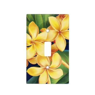Tropical Paradise Hawaiian Plumeria Light Switch