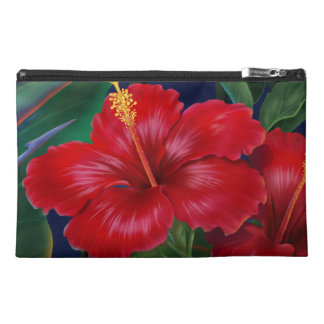 Tropical Paradise Hibiscus Floral Travel Travel Accessory Bag