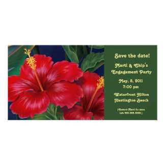 Tropical Paradise Hibiscus Invite & Photo card