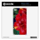 Tropical Paradise Hibiscus iPhone 4/4S Skin iPhone 4 Decals