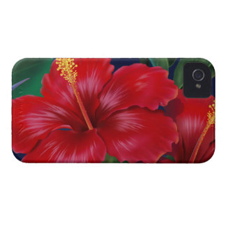 Tropical Paradise Hibiscus iPhone 4 Cases