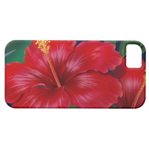 Tropical Paradise Hibiscus iPhone 5 Cases