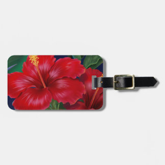 Tropical Paradise Hibiscus Luggage Tags