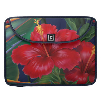 Tropical Paradise Hibiscus MacBook Flapped Case Sleeve For MacBook Pro
