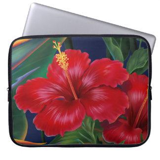Tropical Paradise Hibiscus Neoprene Wetsuit Laptop Computer Sleeves
