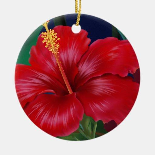 Tropical Paradise Hibiscus Ornaments