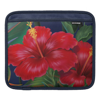Tropical Paradise Hibiscus Rickshaw iPad Case Sleeves For iPads