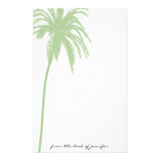 Tropical Paradise in Green Stationery