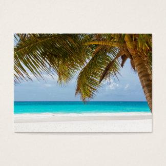tropical paradise  island beach water sand surf business card