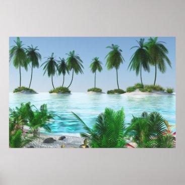 Beach Themed Tropical Paradise Island Poster