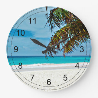 Tropical Paradise Large Clock