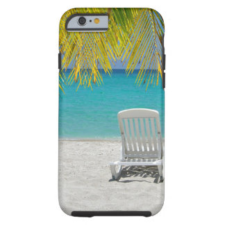 Tropical paradise lounger tough iPhone 6 case