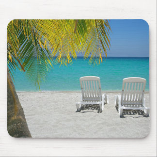 Tropical paradise lounger mouse pad