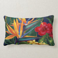 Tropical Paradise Lumbar Decorator Pillows