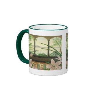 Tropical Paradise Mug in Hunter Green mug