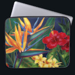 """Tropical Paradise Neoprene Wetsuit Laptop Sleeve<br><div class=""""desc"""">This original digital painting by renowned illustrator Jeff Fillbach is an explosion of the colors of some of nature&#39;s most beautiful flowers. Featuring an array of birds of paradise, plumeria and hibiscus, the items in our Tropical Paradise collection will lift your spirits, and fuel your dreams. Bring paradise to your...</div>"""