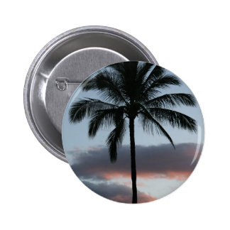 Tropical Paradise Palm Tree Pinback Button