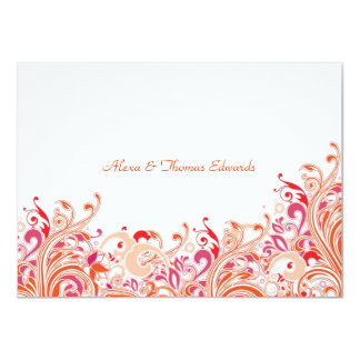 """Tropical Paradise Personalized Thank You Card 4.5"""" X 6.25"""" Invitation Card"""