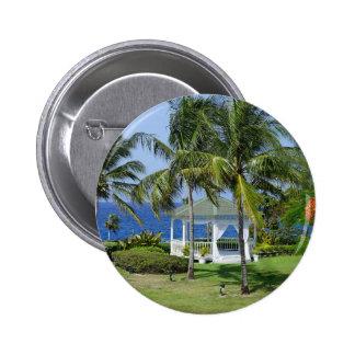Tropical Paradise Pinback Button