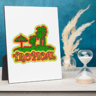 Tropical Paradise Plaque