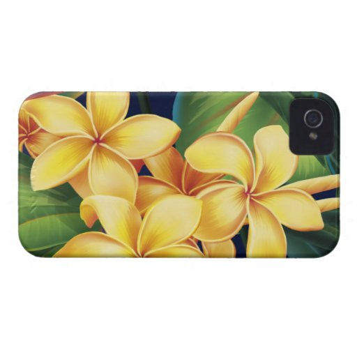 Tropical Paradise Plumeria BlackBerry Bold Case