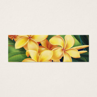 Tropical Paradise Plumeria Bookmark Mini Business Card