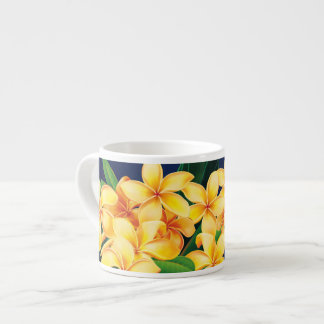 Tropical Paradise Plumeria Hawaiian Espresso Cup