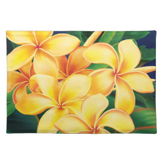 Tropical Paradise Plumeria Hawaiian Placemat