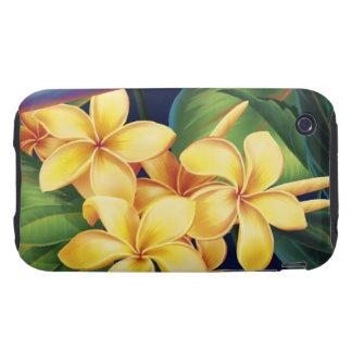 Tropical Paradise Plumeria iPhone 3 Tough Covers