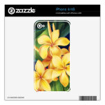 Tropical Paradise Plumeria iPhone 4/4S Skin Decal For The iPhone 4S